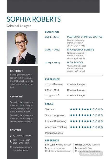 cv template download psd