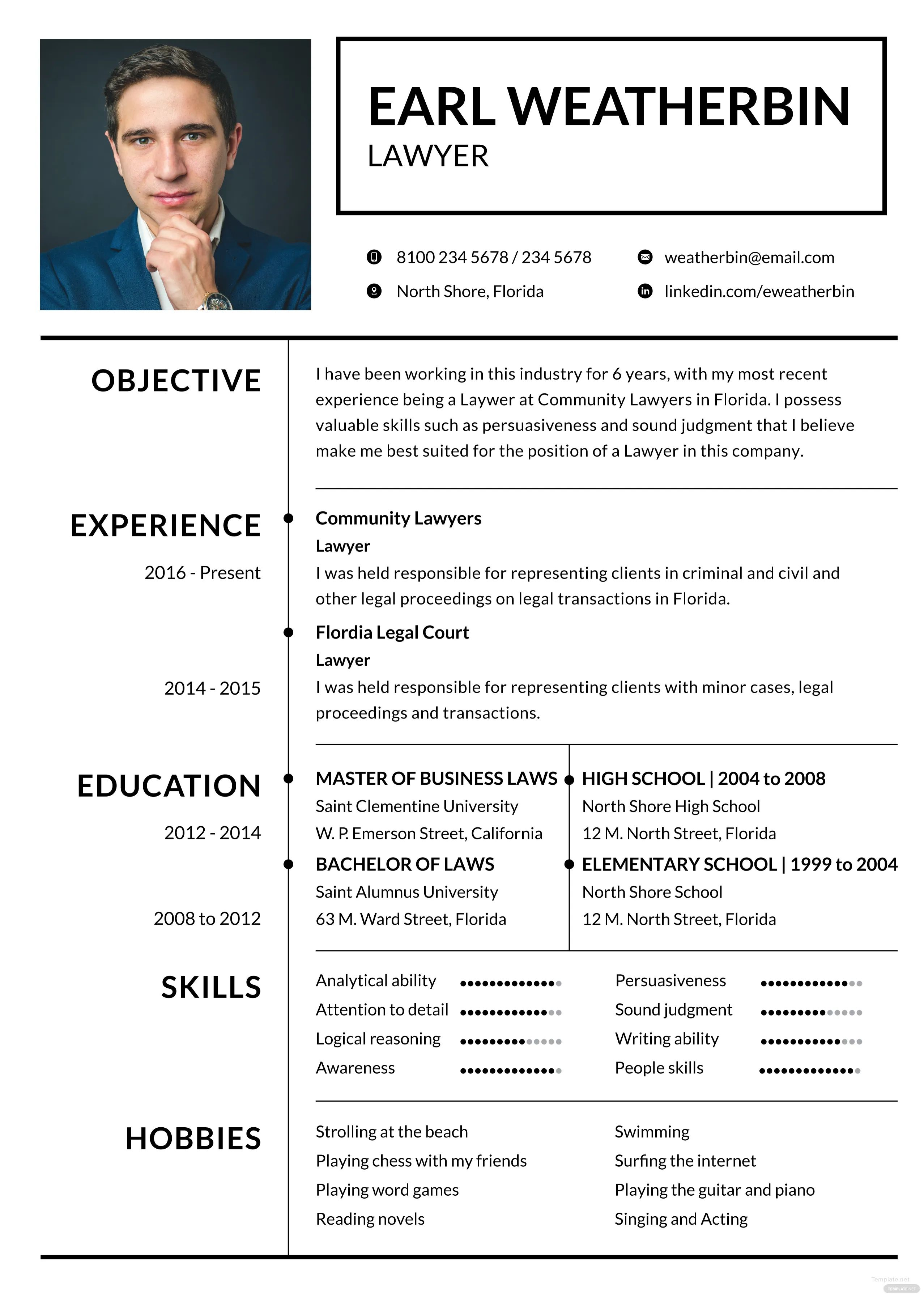 community manager cv example