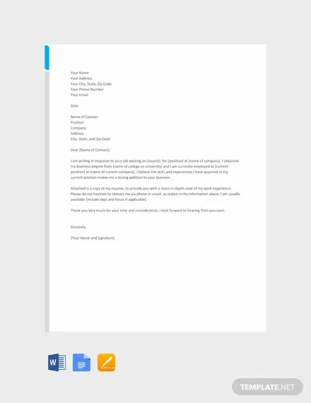 66+ FREE Cover Letter Templates Download Ready-Made Templatenet