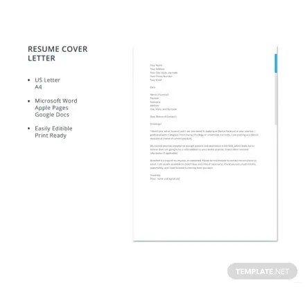 Free Dental Assistant Resume Cover Letter Template Download 700+