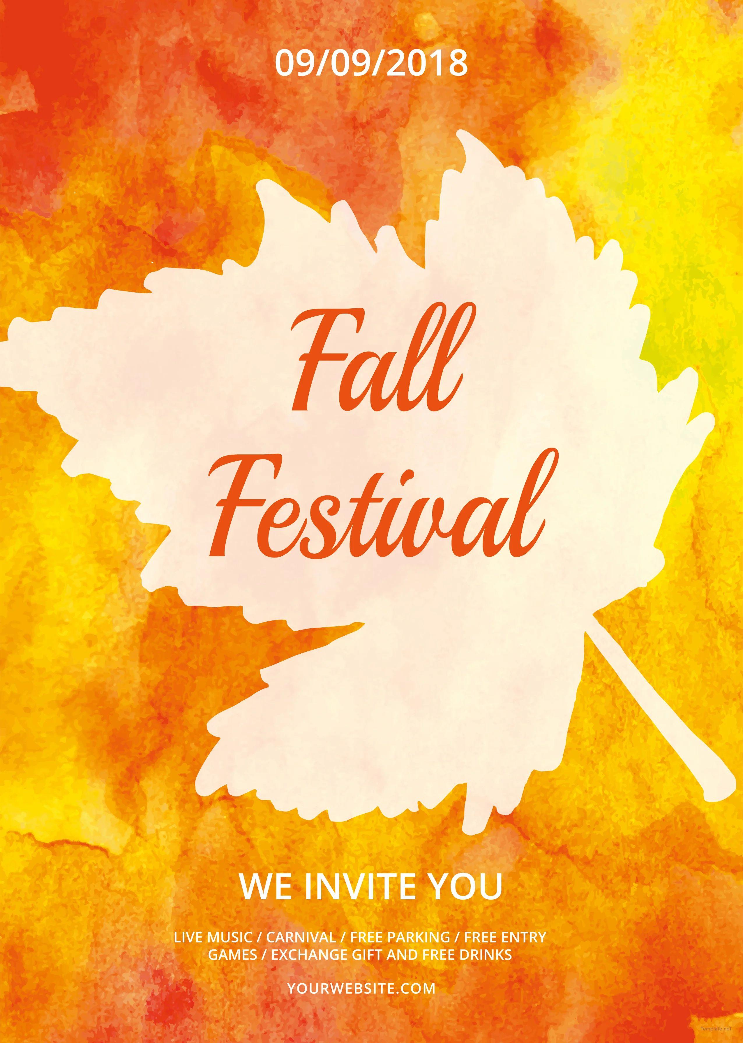 free fall festival flyer templates