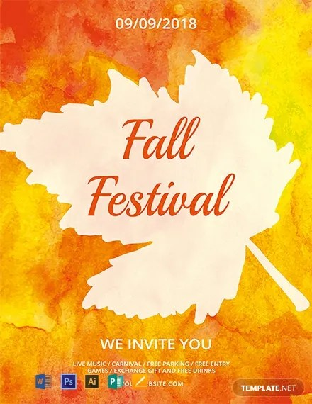 FREE Fall Festival Flyer Template Download 812+ Flyers in PSD