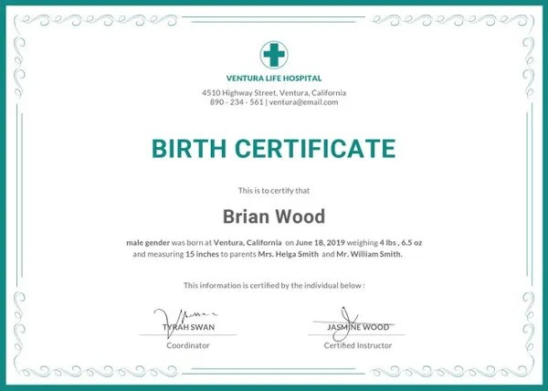 Birth Certificate Template - 44+ Free Word, PDF, PSD Format Download - Birth Certificate Template