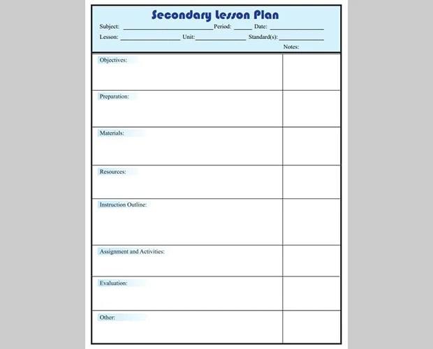 5+ Free Lesson Plan Templates Free  Premium Templates - daily lesson plan template