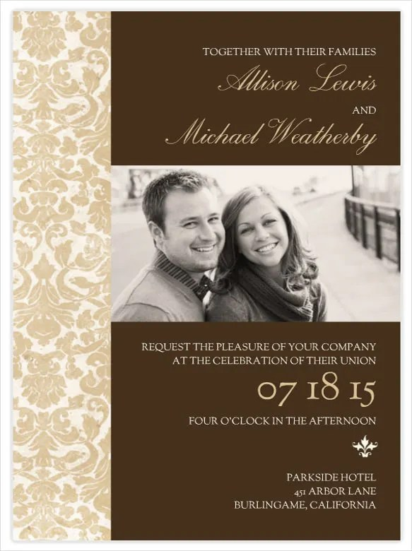 47+ Wedding Invitation Design Templates - PSD, AI, Word Free