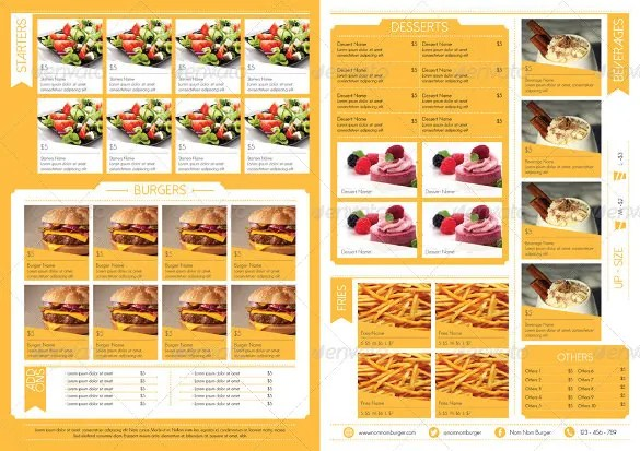 Restaurant Menu Template - 53+ Free PSD, AI, Vector EPS, Illustrator - food menu template