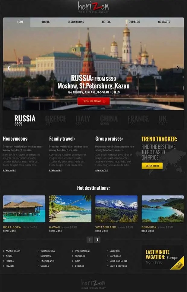 55+ Tourism Website Themes  Templates Free  Premium Templates