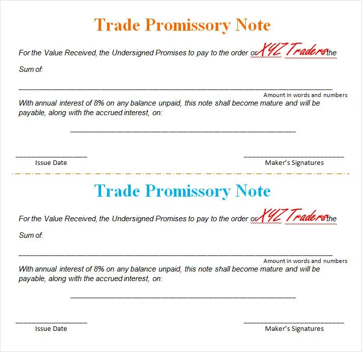 16+ Promissory Note Template Free  Premium Templates