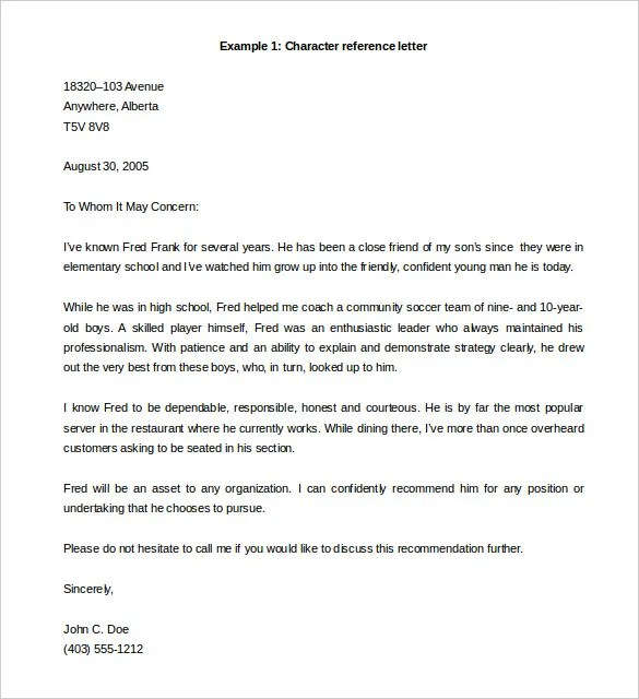 free template for letter of recommendation - Onwebioinnovate - free templates for letters