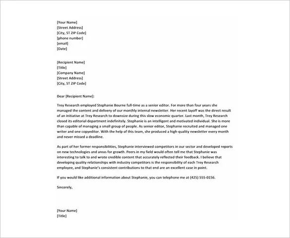 how to make a reference letter for an employee