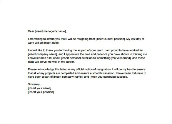 how to do a resignation letter - Ozilalmanoof