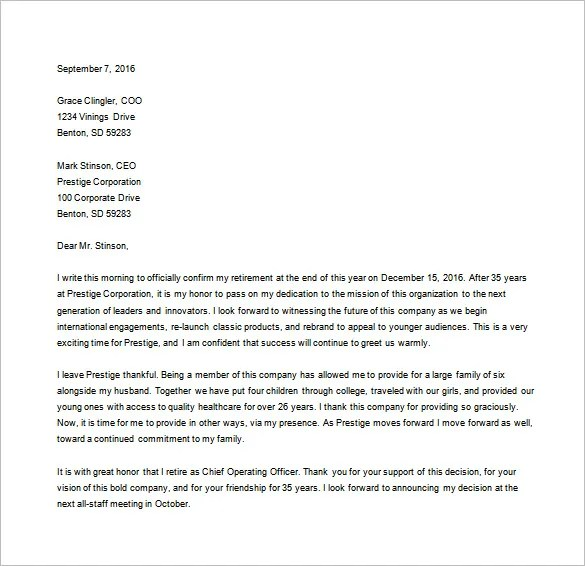 Resignation Letter Templates - 26+ Free Word, Excel, PDF Documents - example of resignation letter