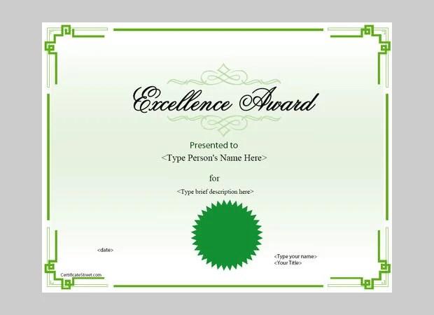Award Certificate Template - 39+ Word, PDF, PSD Format Download