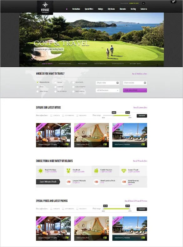 Best Premium Travel Agency Templates, Top Free themes for Travel