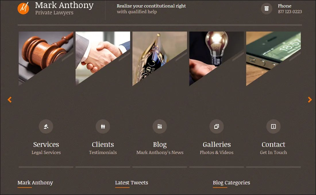 19 Best Attorney Website Templates Free  Premium Templates