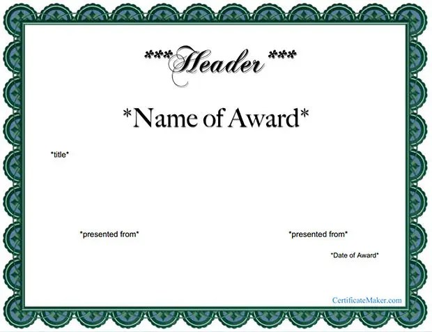 Award Certificate Template - 39+ Word, PDF, PSD Format Download