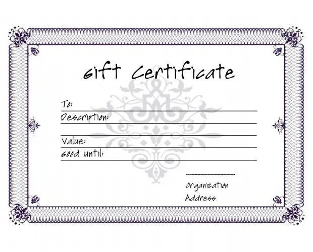 5+ Premium Gift Certificate Free Templates Free  Premium Templates - gift certificate free templates