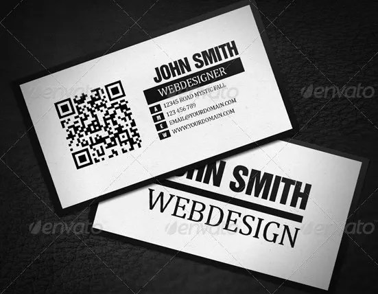 34+ Best QR Code Business Card Identity Mockups - PSD, Word