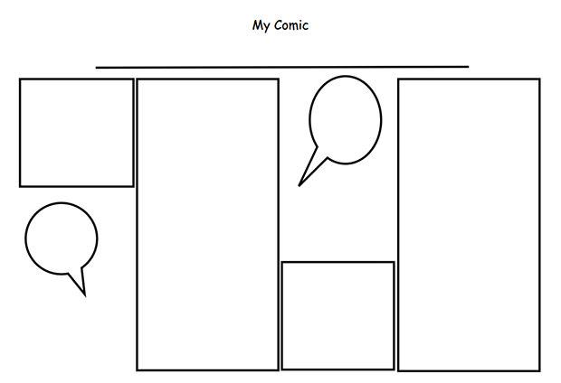 Comic Strip Template Free  Premium Templates - comic strip template