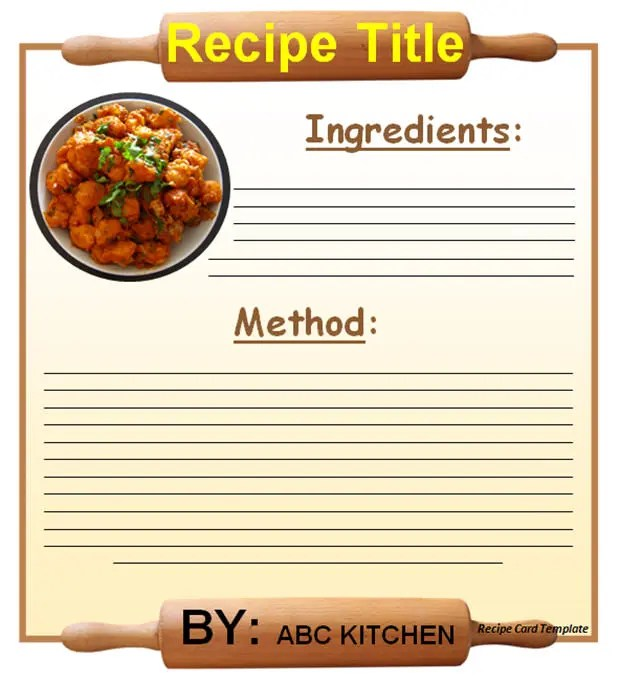20+ Free Recipe Card, Page  Book Templates Free  Premium Templates