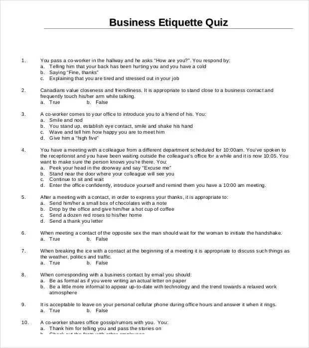 free quiz template - Selol-ink - free quiz template