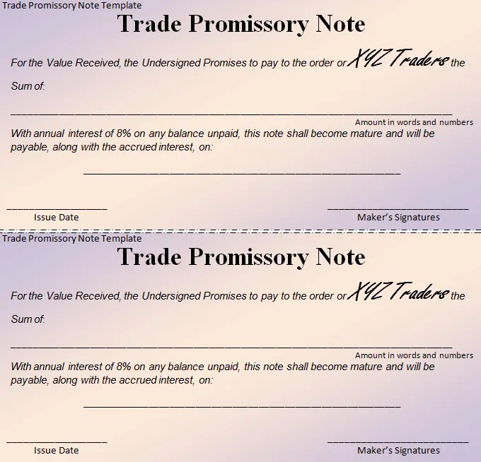 16+ Promissory Note Template Free  Premium Templates - promisory note sample