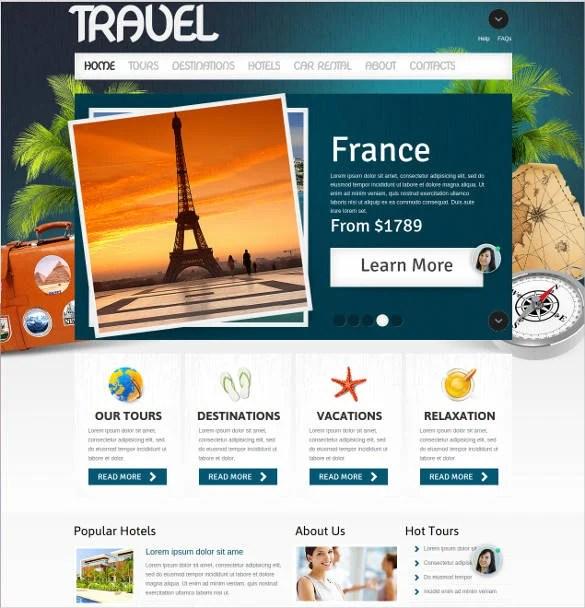 55+ Tourism Website Themes  Templates Free  Premium Templates - how to create a website template