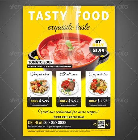 Restaurant Flyer Templates - 65+ Free Word, PDF, PSD, EPS, InDesign