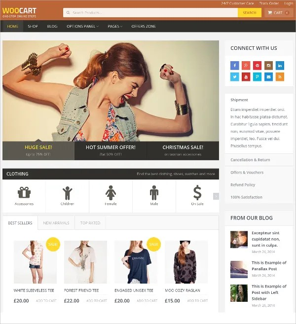 23+ Online Store Website Themes  Templates Free  Premium Templates