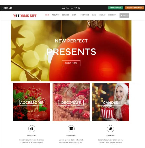 17+ Gift Store Website Themes  Templates Free  Premium Templates