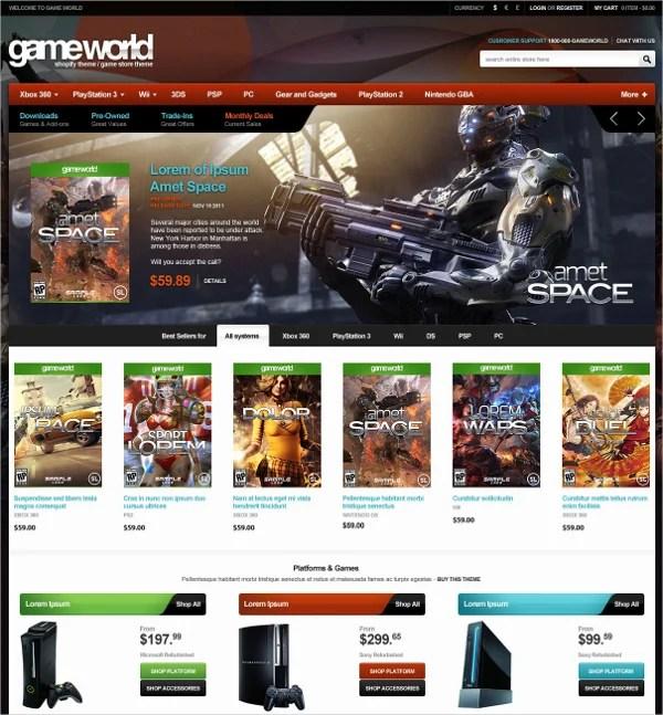 6+ Gaming Shopify Themes  Templates Free  Premium Templates