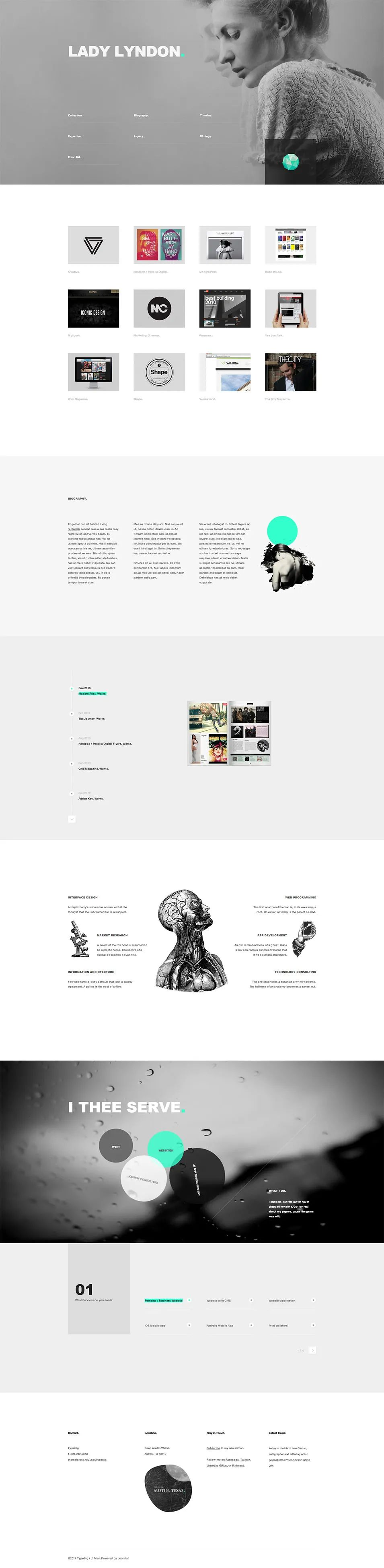 resume template website bootstrap