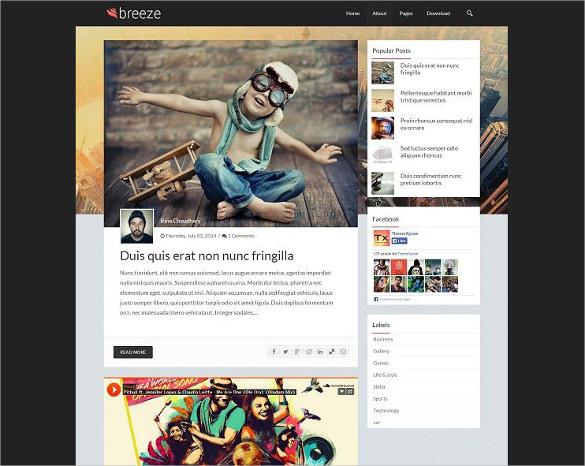 44+ Professional Blog Themes  Templates Free  Premium Templates