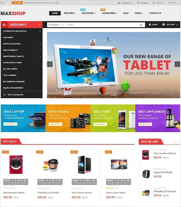 16+ Opencart Website Themes  Templates for Online Stores Free