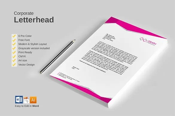 31+ Word Letterhead Templates - Free Samples, Examples, Format - letterhead layout