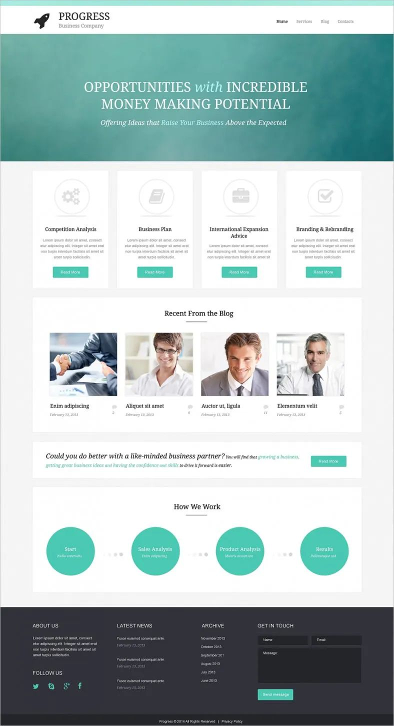 free download template php