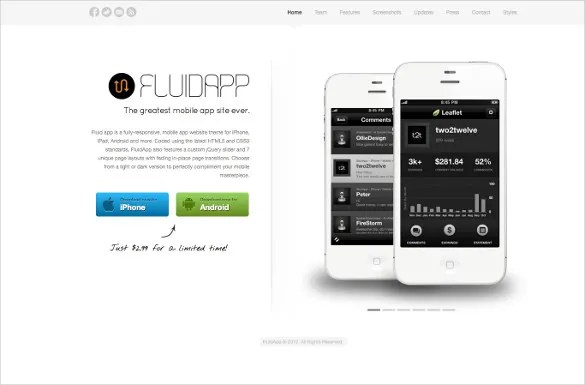 27+ App Developers Website Themes  Templates Free  Premium Templates - Free App Template