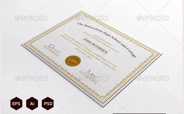 58+ Printable Certificate Templates - Free PSD, AI, Vector, EPS - free certificate of completion templates for word