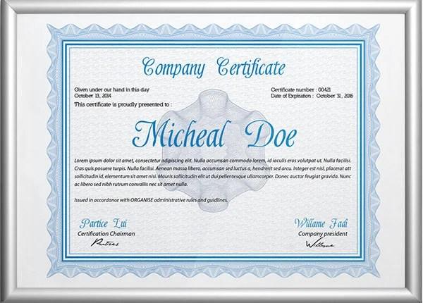 58+ Printable Certificate Templates - Free PSD, AI, Vector, EPS - Free Professional Certificate Templates