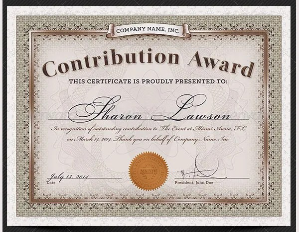 58+ Printable Certificate Templates - Free PSD, AI, Vector, EPS