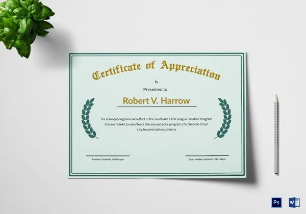 64+ Printable Certificate Templates - PSD, AI, Vector, EPS, Word