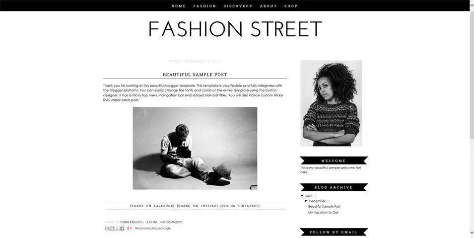 Fashion Blog Website Templates  Themes Free  Premium Free - fashion blogger templates