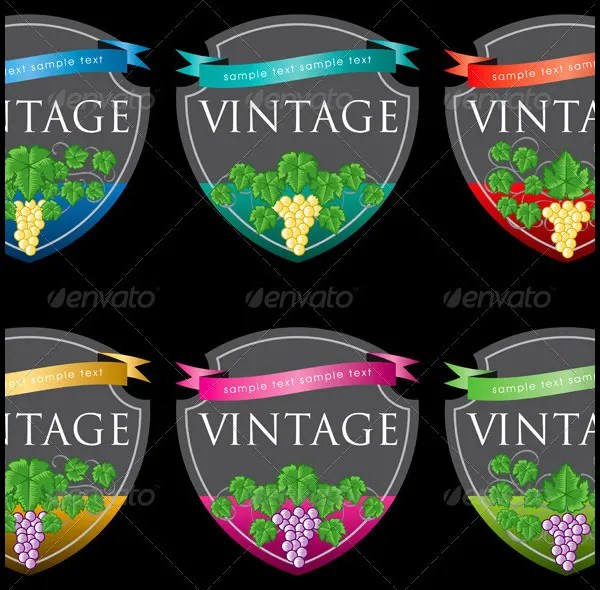 57+ Best Creative Designs of Wine Labels  Stickers Gallery for