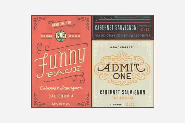 57+ Best Creative Designs of Wine Labels  Stickers Gallery for - free wine label design