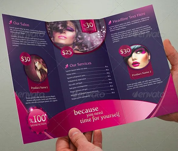 34+ Beauty Parlour Brochure Templates - PSD, InDesign Free