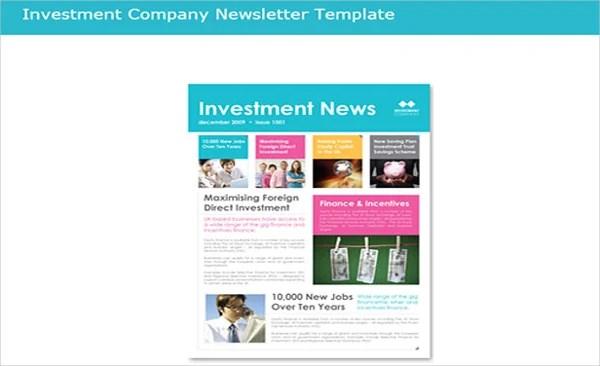 81+ Best Newsletter Templates 2018 Free  Premium Templates