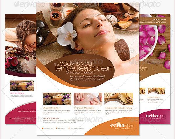 spa day flyer templates trattorialeondoro - spa brochure template