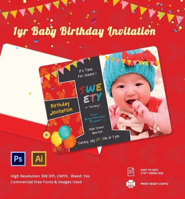 Birthday Invitation Card \u2013 gangcraftnet - birthday invitation card templates free download