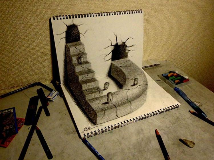 3D Pencil Drawings - Pencil Drawings  Designs Free  Premium
