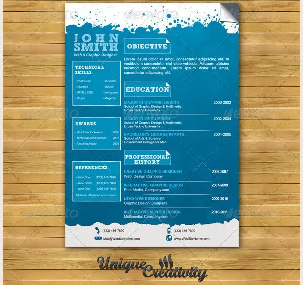 Creative Resume Template \u2013 81+ Free Samples, Examples, Format - creative resume template free